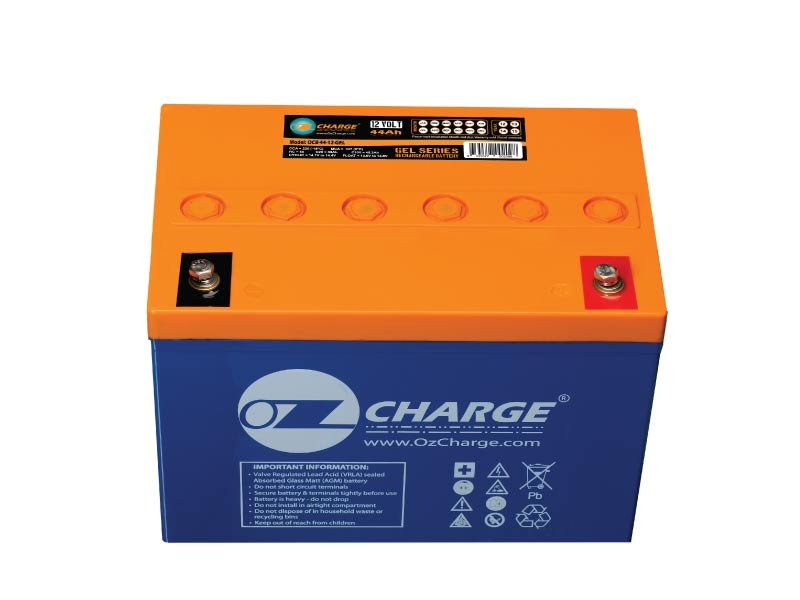 12v 44ah gel battery ozcharge. Black Bedroom Furniture Sets. Home Design Ideas